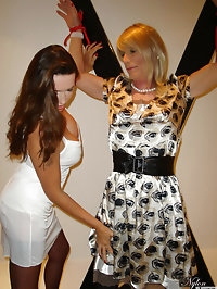 Nylon Jane ties up a slutty crossdresser and toys with her..