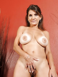 48 year old housewife Tori Baker strips off her lingerie..