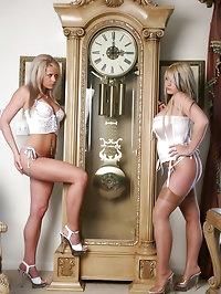 Ann and Faith and a Big Clock