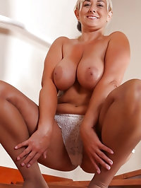46 year old Melyssa from AllOver30 posing on the stairs in..