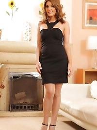 The beautiful Kelly M in black dress