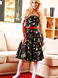Natasha wearing her beautiful summer dress.
