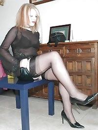 Seductress with black lingerie fetish