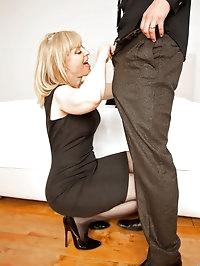Anilos Nina Hartley receives a hard pussy pounding and a..