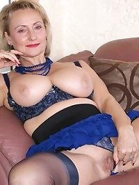 Mama wears blue awfully well