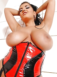 Jasmine Black shows her big boobs