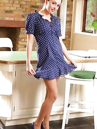 The lovely Jo S slips out of her summer dress and poses in..