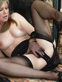 sheer bliss in nylons, panties and gloves