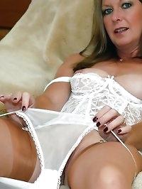 sheer stockings and panties milf