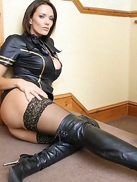 Lucy Zara looking gorgeous as a naughty air hostess is..