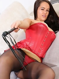 Felicity Hill Red Leather