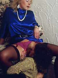 Hot girl on girl action with dildos and all