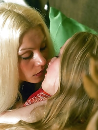 Cute blonds get horny with a porn magazine