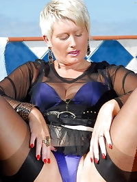 Sexy 44 year old Sally T probes her hot  wet and mature..