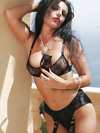 Stunning Eve Outdoor in sexy Lingerie and Fully Fashioned..