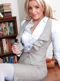 The gorgeous Amy Green in the study