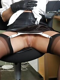 Leather gloves in the work place is so fucking horny