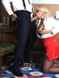 Leggy Lana wearing glasses and getting fucked by sexy hunk