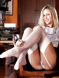 Amazing office workes in stockings & lingerie