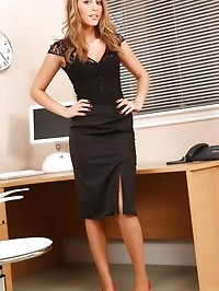 Darcy looks beautiful in her black lace top and tight..
