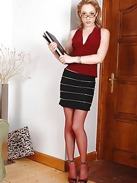 Secretary Lily LaBeau doing footjob