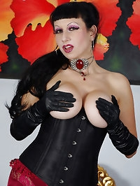 a not so subtle burlesque stocking show
