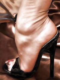 Dazzling slut in sexy heels