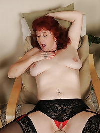 Popular mature redhead Surely in knee high stockings..