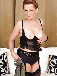 58 year old MILF Lucy can't get enough of her mature..