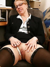 Horny mature office chick can\'t wait to show you what\'s..