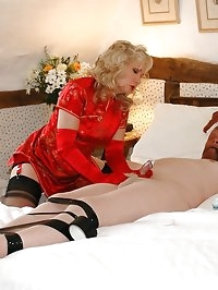 bound slave in hose forced to cum