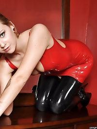 natalia k red dress black