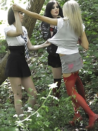 Carole Hunt, Jen Bailey and Samantha Bentley outdoor..