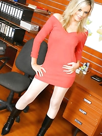Marvelous Maria looking beautiful in a casual red..