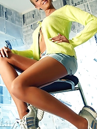 Leggy sporting Milf LilyWOW in pantyhose