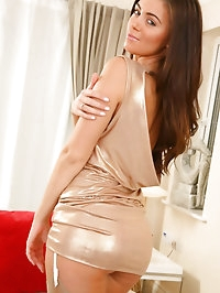 Natalia looking amazing in gorgeous evening dress and..