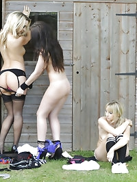 Schoolgirls Amy Alexandra, Cat O'Connell and Elle Parker..