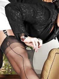 Posh woman has sexy lingerie