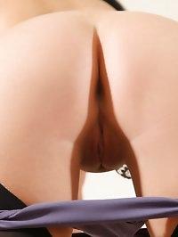 Gorgeous vixen Lexi Lowe flirty in a couch wearing full..