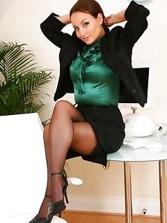 Secretary Stockings Pics