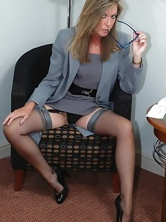 Secretary Stockings Pics