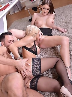 Threesome Stockings Pics
